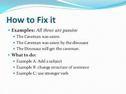 essay day active and passive voice transition words ppt  how to fix it examples all three are passive what to do