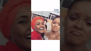 Rihanna & Halima Aden (Somali Model) met the first time! Like&share -  YouTube