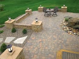 Impressive Backyard Paver Patio Designs Inexpensive Patio Pavers