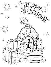 Pokemon With Cake And Presents Coloring Page H M Coloring Pages