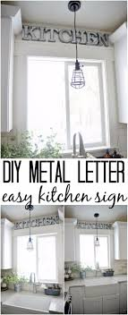 diy wall letters and initals wall art diy metal letter industrial kitchen sign cool