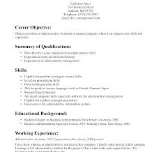 Objective Resume Statement Production Support Resume Resume Admin ...