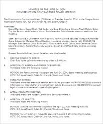 Minutes Sample Format 36 Meeting Minutes Template Free Word Pdf Doc Excel Formats
