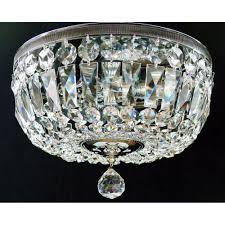 fantastic lighting flush baguette with reflector plate 522 30 3 full lead crystal ts