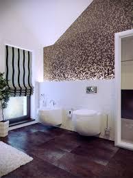 Wonderful Purple Mosaic Tiles Wall Ideas In Contemporary Bathroom ...