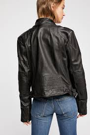 fitted and rugged leather jacket lyst view fullscreen