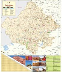 Rajasthan Map Printed On Vinyl 1st Wall Chart Jan 01