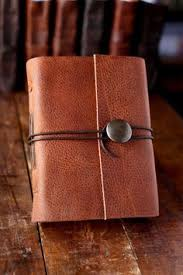 gifts for crafters leather journal with on closure travel journal