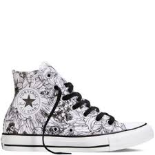 Patterned Converse High Tops