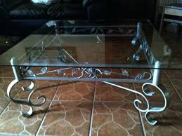 awesome wrought iron coffee tables with glass metal table round