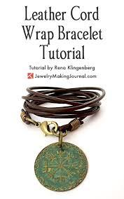 leather cord wrap bracelet tutorial by rena klingenberg