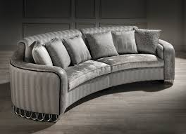 Luxury Couch Small Curved Sofa Luxury Small Curved Sofa Silver Sofa