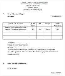 Mentorship Project Sample Budget Proposal Template Dave Ramsey