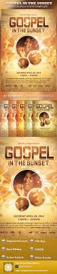 images about christian design flyer template gospel in the sunset church flyer template