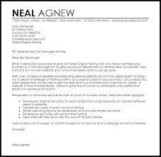 Qa Test Lead Cover Letter Test Manager Cover Letter Sample Best