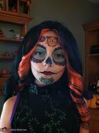 skelita calaveras costume face makeup close up