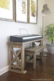 keyboard stand with bench