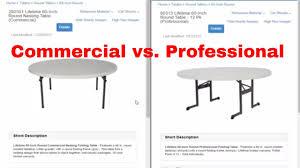 lifetime commercial vs professional tables