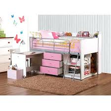 storage loft bed awesome beds canwood whistler with desk bundle cherry