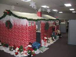 christmas decorations for the office. Delighful Decorations Alluring Hut Made With Paper For Office Christmas Decoration Contest To Decorations For The B