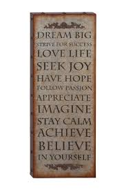dream big metal wall art