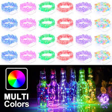 Cheap Fairy Lights Bulk 24 Pack Multicolor Fairy Lights Battery Operated 7 2ft Firefly Starry String Lights Waterproof 20 Micro Leds Copper Wire Portable Bulk Fairy Lights