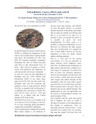 soil pollution causes effects and control pdf available