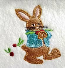 How To Digitize Applique Designs Embroidery Design Digitized Rabbit Radish 4 X 4 Applique