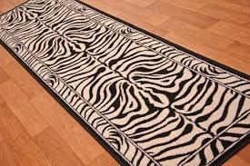 gorgeous animal print runner rug with shiraz modern black ivory zebra print long hall runner rug