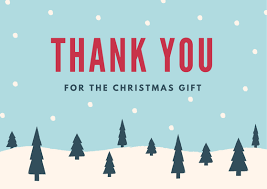 Christmas Thank You Card for Holiday Gifts