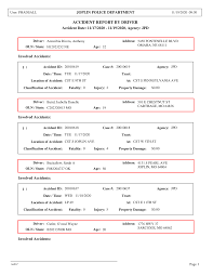 ACCIDENT REPORT BY DRIVER