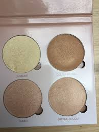 anastasia glow kit names. the four colours on this palette are sunburst, golden bronze, bubbly and dripping in gold. is definitely a summery as anastasia glow kit names