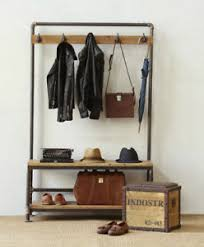 Shoe Rack And Coat Hanger Entryway Hall Tree With Bench Shoe Rack Coat Hooks Rustic Style 23