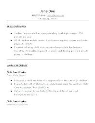 Child Care Resume Template Amazing Child Care Resume Samples Caregiver Resume Sample Sample Resume Of