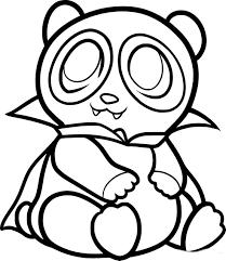 Coloriage De Bebe Panda A Imprimer