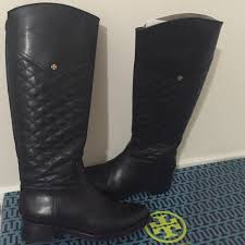 31% off Tory Burch Shoes - Tory Burch Size 7 black quilted leather ... & Tory Burch Size 7 black quilted leather boots Adamdwight.com
