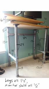 diy standing desk is one of the best idea to make diy desk with charming design 5