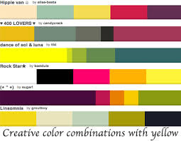 ... creative color combinations you may consider.  colorcombinationswithyellow