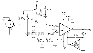 microphone circuit audio circuits next gr ina217 professional miniature microphone microphone circuit diagram of a typical preamp
