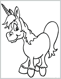 Free Coloring Pages Unicorn Free Printable Unicorn Coloring Page
