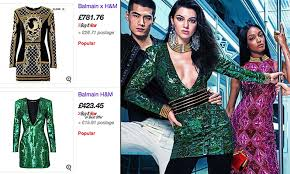 Balmain H M Size Chart H M X Balmain Clothes On Ebay At Over Double The Retail