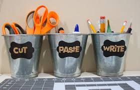 diy office organization 1 diy home office. Beautiful Home Labeling Mini Buckets For Office Supplies On Diy Office Organization 1 Home