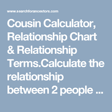 Cousin Calculator Relationship Chart Relationship Terms