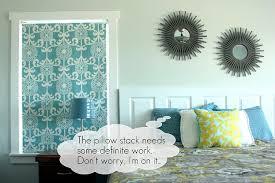 TUTORIAL* $4 Roller Shade   Vanilla Joy & diy fabric roller shade and pillows Adamdwight.com
