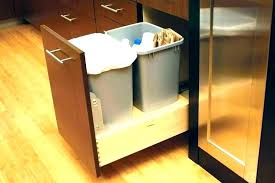 under counter trash can bin garbage the cans likeable kitchen cabinet door bag holder
