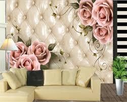 Beibehang Behang Interieur Elegante Tassen Rose 3d Woonkamer Kamer