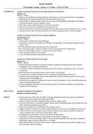 Restaurant General Manager Resume Assistant Restaurant Manager Resume Samples Velvet Jobs 35