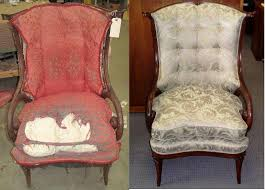 Image of: Reupholster Antique Chair Upholstery Before And After