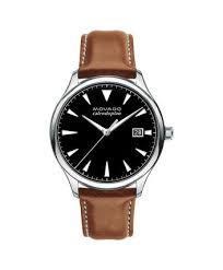 movado movado heritage series men s large stainless steel watch movado movado heritage series 3650001 men s 40 mm strap watch front view