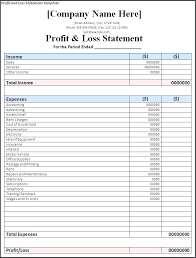 Free Income Statement Template Single Step Format For Service